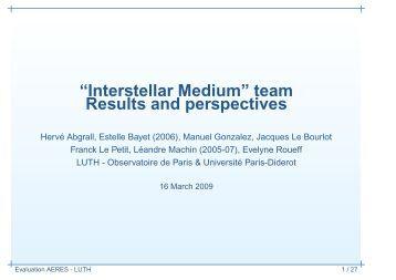 Interstellar Medium - LUTH - Observatoire de Paris