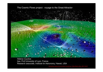 The Cosmic Flows project : voyage to the Great Attractor - LUTH
