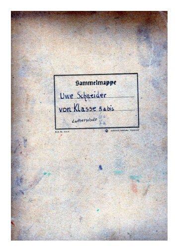 Sammelmappe Uwe Schneider - Lutherschule