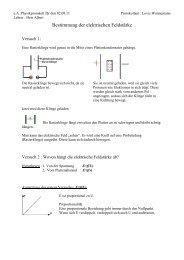 Bestimmung der elektrischen Feldstärke - Lutherschule
