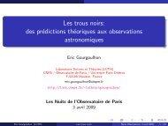 Les trous noirs - LUTh - Observatoire de Paris