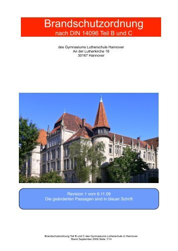 Brandschutzordnung - Lutherschule
