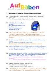 1. Aufgaben zu umgekehrt proportionalen ... - Lutherschule