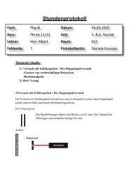 Stundenprotokoll - Lutherschule