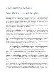 Knalle zerstören das Gehör Stück für Stück ... - Lutz Möller Jagd