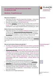 Merkblatt Projektförderung_2009