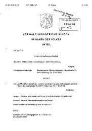 aktuelles Urteil des VG Minden - Lutz Möller Jagd