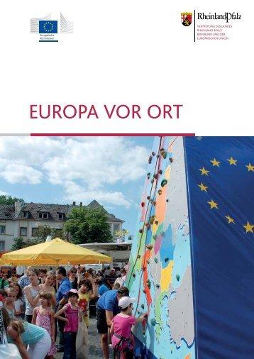 """Broschüre """"Europa vor Ort"""" - Vertretung des Landes Rheinland-Pfalz"""