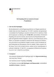 ... EU-Projekttag 2012 an deutschen Schulen – Projektskizze – 1 ...