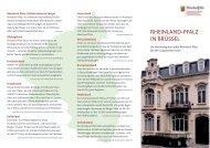 RHEINLAND-PFALZ IN BRÜSSEL - Vertretung des Landes ...