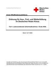 Ausbildungsordnung Breitenausbildung LSM/Erste Hilfe