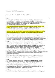 Erhebung einer Waffenbesitzsteuer Kanzlei Graf ... - Lutz Möller Jagd