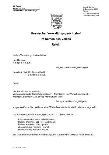 11 UE 2912/00 - Lutz Möller Jagd