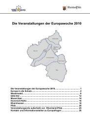 Die Veranstaltungen der Europawoche 2010 - Vertretung des ...
