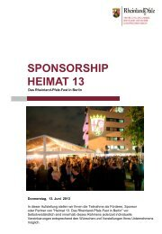Sponsorenkonzept - Vertretung des Landes Rheinland-Pfalz