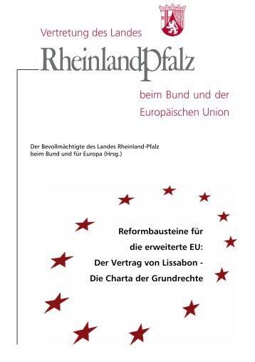 Der Vertrag von Lissabon - Vertretung des Landes Rheinland-Pfalz
