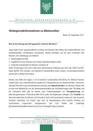 Hintergrundinformationen zu Bleimunition - Lutz Möller Jagd