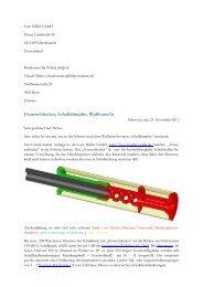 Feuerschlucker für die Schweiz - Lutz Möller Jagd