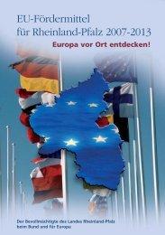 EU-Fördermittel für Rheinland-Pfalz 2007-2013 - Vertretung des ...