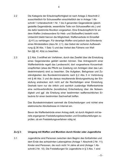 Waffengesetz - KV Lauenburg