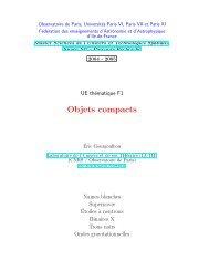 Objets compacts - LUTH - Observatoire de Paris