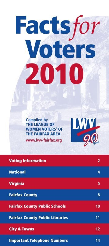 2010 Facts for Voters - The League of Women Voters of the Fairfax ...