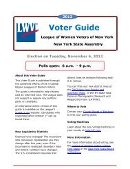 Voter Guide - League of Women Voters | Rochester Metropolitan Area