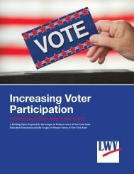 Increasing Voter Participation - League of Women Voters of New ...