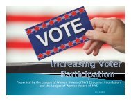 Power Point Presentation - League of Women Voters of New York ...