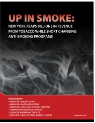 UP IN SMOKE: - American Cancer Society