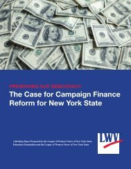 The Case for Campaign Finance Reform for New York State