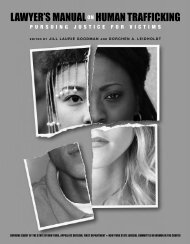 Lawyer's Manual on Human Trafficking - Unified Court System