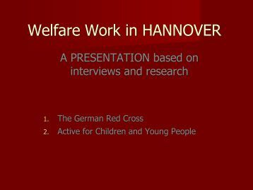 Welfare Work in HANNOVER