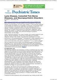 Lyme Disease, Comorbid Tick-Borne Diseases, and Neuropsychiat...