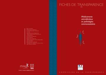 Fiches de transparence 2004 des médicaments anti-infectieux