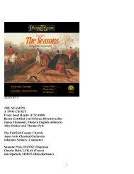 THE SEASONS A TWO CD SET Franz Josef Haydn (1732-1809 ...