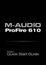 ProFire 610 Quick Start Guide - M-Audio