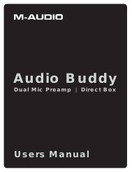 Audio Buddy User Guide - M-Audio