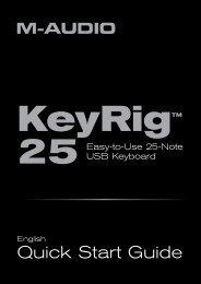 KeyRig 25 Quick Start Guide - M-Audio