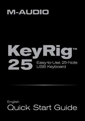 KeyRig 25 Quick Start Guide - M-Audio