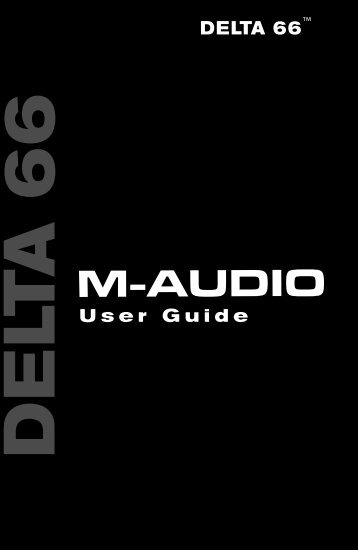 Delta 66 User Guide - M-Audio