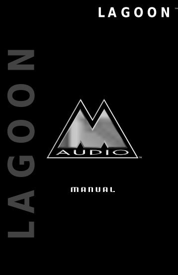 M Aud maunal cover for pdf - M-Audio