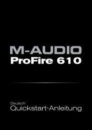 ProFire 610   Quickstart-Anleitung - M-AUDIO