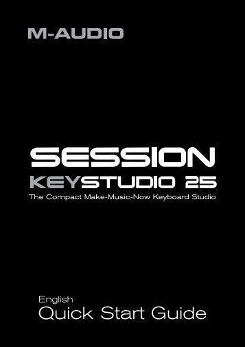 Session KeyStudio 25 Quick Start Guide - M-Audio