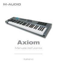 Manuale dell'utente della serie Axiom - M-Audio