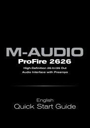 ProFire 2626 | Quick Start Guide - M-Audio
