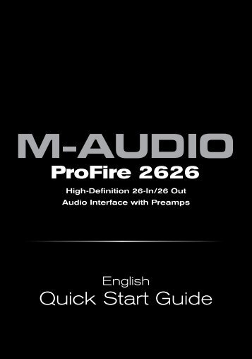 ProFire 2626 | Quick Start Guide - M-Audio