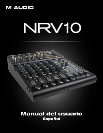 Manual de instrucciones de NRV10 - M-Audio
