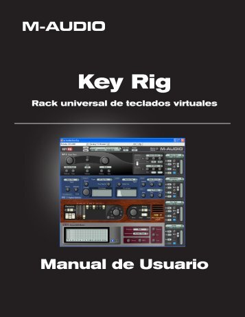 Manual de usuario de Key Rig - M-Audio