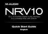 Quick Start Guide • NRV10 - M-Audio